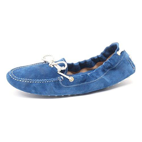 Donna Woman Shoe Scarpa Scoobydoo Chiaro Blu B3938 Loafer Mocassino Car UqPpWw45f