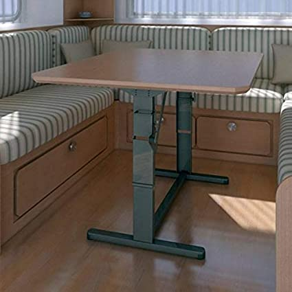 FAWO Hubtisch Tisch HTA 750 Schlafnutzung Tischgestell Wohnwagentisch Caravan H/öhenverstellbar grau