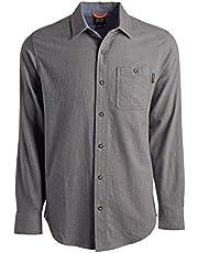 Timberland Woodfort Camisa de Trabajo de Franela de Peso Medio Camisa de Trabajo con Botones para Hombre