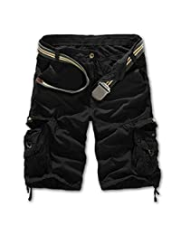 YoYo_Boy Men's Army Camouflage Shorts Male Homme Cotton Cargo Shorts for Men