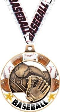 Baseball Medals - Crown Awards Baseball Medals - 2.25