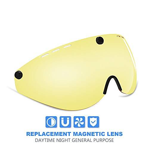 deb645ccba Stylish Adult Road Bike Helmet Visor Protector Goggle Lens Yellow Lens  Night Riding Use