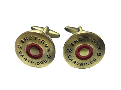 Brass Toned Shotgun Shell Cufflinks