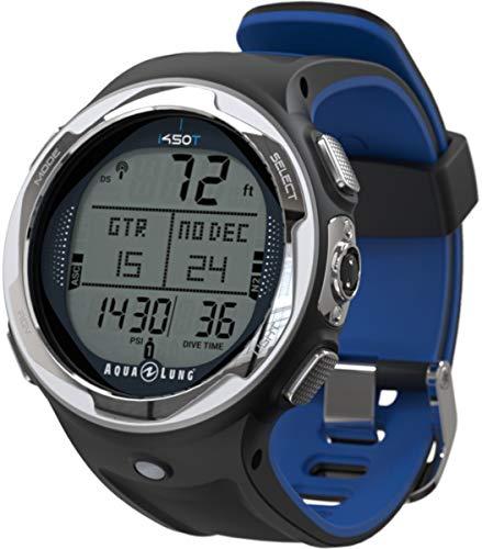 Aqua Lung i450t Hoseless Air Integrated Wrist Watch Dive Computer w/USB, Blue
