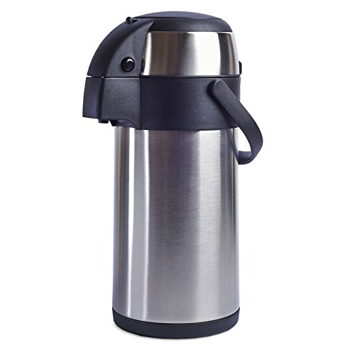 LIVIVO  Stainless Steel Airpot Hot Tea Coffee Drinks Vacuum Flask Thermos...
