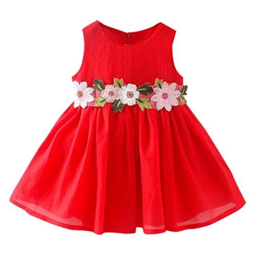 Fil Net Robes Impression Fleuri Rouge Enfants Manches Col Mode À Charmant Fille Rond Princesse Amuster Bébé Floral Robe Sans En Tutu Maille Imprimé q6ZwpO
