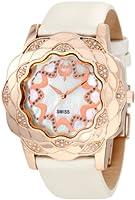 Brillier Women's 10-3F424-03 La Fleur Round Rose Gold Diamonds Analog Watch by Brillier