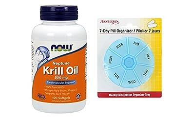 AHORA Neptuno Krill aceite, 120 cápsulas con gratis 7 días plástico píldora organizadores