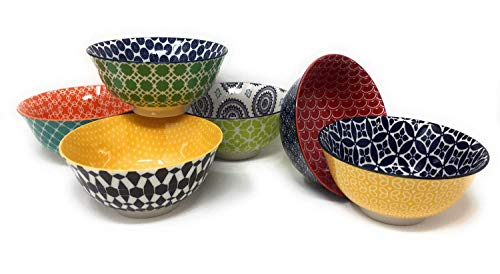 nal Chelsea 6 Ceramic Bowls (Green New) ()