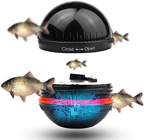 F/ür Boote Ice Nachtangeln Bewegliche Nachladbare Angel-Echolot Locator 48M // 160Ft Wireless Tiefe Echolot MXXQQ Wireless-Fisch-Sucher Mit Fisch Attraktive Helle Lampe