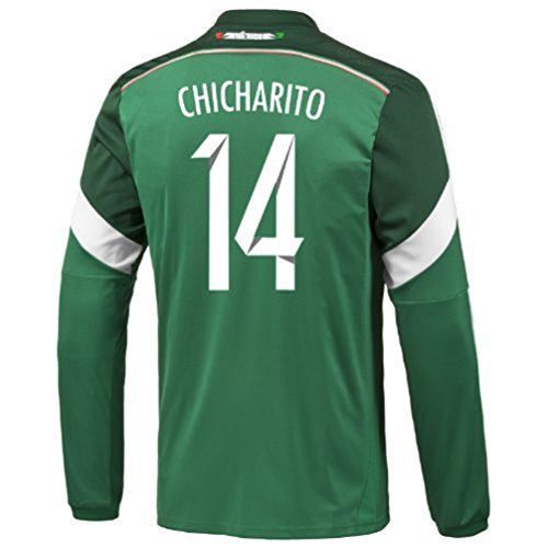 check out 2a729 b61b9 80%OFF Adidas CHICHARITO #14 Mexico Home Jersey World Cup ...