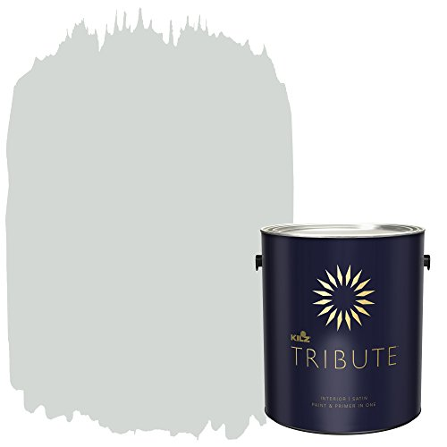 KILZ TRIBUTE Interior Satin Paint and Primer in One, 1 Gallon, Cool Fog (TB-61)
