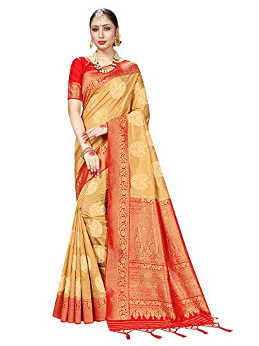Sarees for Women Banarasi Art Silk Woven Saree || Ethnic Indian Gift Traditional Wedding Gift Sari with Unstitched…