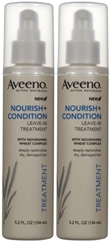 Aveeno Active Naturals Nourish + Condition Leave-In Treatment, 5.2 oz, 2 pk