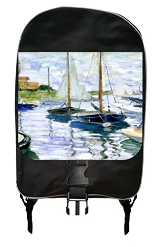 Petite Arch Marker (Monet's Boats at Rest at Petit Genneveliers Painting Print Design Backpack and Pencil Case Set)