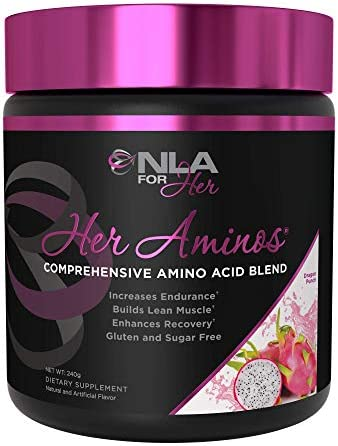 NLA for Her – Her Aminos – Comprehensive BCAA Amino Acid Blend – Supports Increased Endurance, Builds Lean Muscle, Improve Hydration Enhance Recovery Dragon Punch – 254 Grams