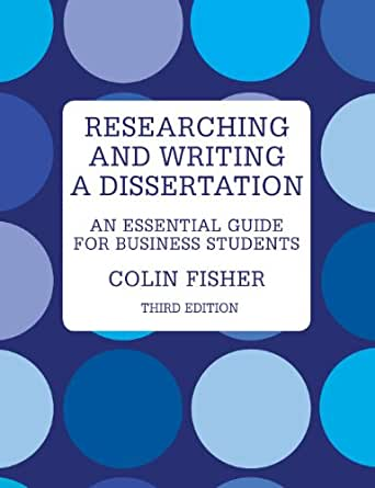 Colin fisher researching and writing a dissertation