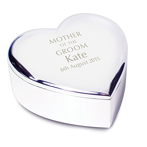 Personalized Mother of the Groom Heart Trinket Box