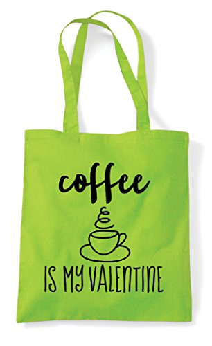 And Version Statement Valentine Coffee Tote Bag Is My Blue Black Lime Shopper IFwYqF4