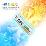 EBL AA Rechargeable Batteries 2800mAh Ready2Charge