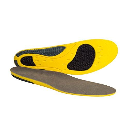 MagiDeal 1 Par Plantillas de Zapatos Almohadillas Cuidado de Pies Absorción de Choque Pies Planos Flexible Ortopedia