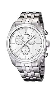 Festina F16778/1 - Reloj de pulsera hombre, acero inoxidable, color plateado