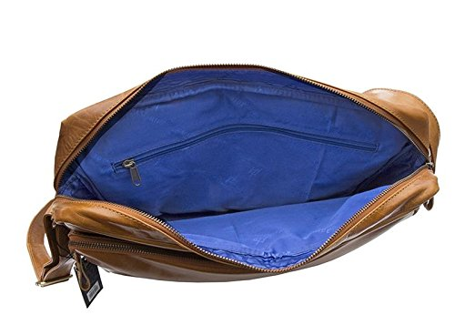 marrone pelle marrone borsa a tracolla TEXANO design da Prime Hide