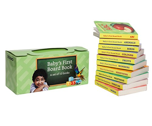 Amazon Brand - Solimo Board Books for Kids (Set of 10)