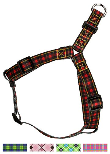 (Country Brook Design 5/8 Inch Buffalo Plaid Step-in Dog Harness - Small)