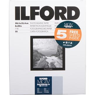 Paper Ilford Smooth Pearl - Ilford 8x10 RC Pearl 25+5 (30) Sheet