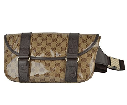 Gucci Waist Belt Bag 374617 Signature Crystal GG Guccissima Logo Fanny Pack by Gucci