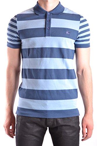 Burberry Herren MCBI056209O Hellblau/Blau Baumwolle Poloshirt