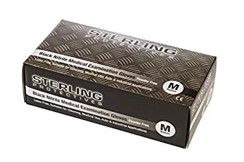 Heavy Duty Negro nitrilo guantes desechables sin polvo AQL 1,5 Size 7 Guantes de alta calidad Premium por gocableties Peque/ño Paquete de 100
