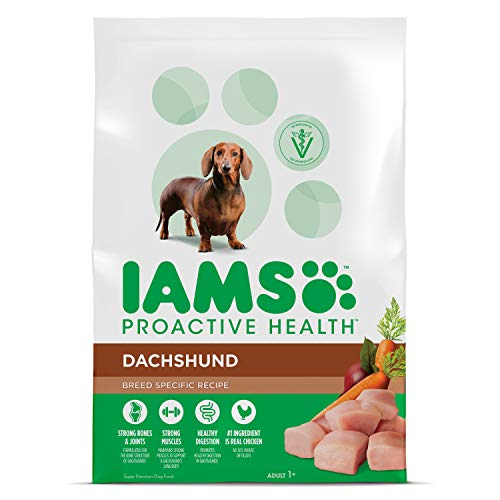 Iams Proactive Health Adult Dachshund Dry Dog Food, Chicken Flavor, 7 Pound ()