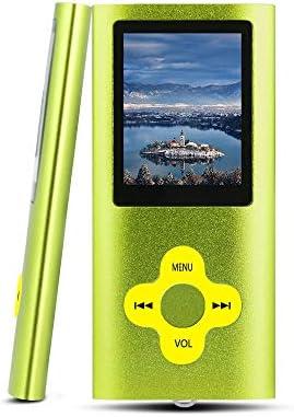 Btopllc Reproductor de MP3 Reproductor de MP4 Reproductor de música Digital Tarjeta de Memoria Interna de 16GB Reproductor de música portátil/Compacto MP3/MP4/Reproductor de Video (Green)