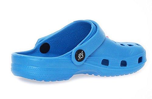 Matyfashion Coole Mädchen und Jungen Clogs, Pantoletten, Badeschuhe BF 00262 Blau