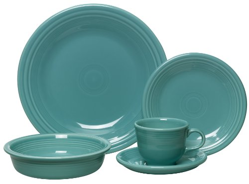 Fiesta 5-Piece Place Setting, (Dinnerware Set One Place Setting)