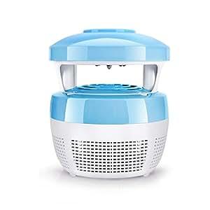 Natood L'insetto di insetti Anti-zanzara L'onda di luce blu (lampada UV LED, senza radiazioni senza radiazioni, tranquilli comandi insetti come le zanzare, l'uso all'interno, intorno alla casa) , 6 , blue