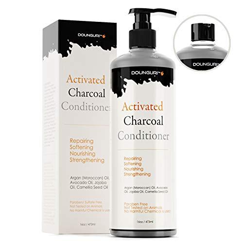 DOUNGURI Sulfate Free Activated Charcoal for Repairing, nourishing, Softening, Strengthening 16oz – Organic Ingredients : Argan (Moroccan), Avocado