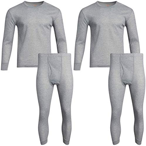 Fourcast Mens Thermal Pajama Bottoms Base Layer Long John Sweatpants Plus 2 Pack
