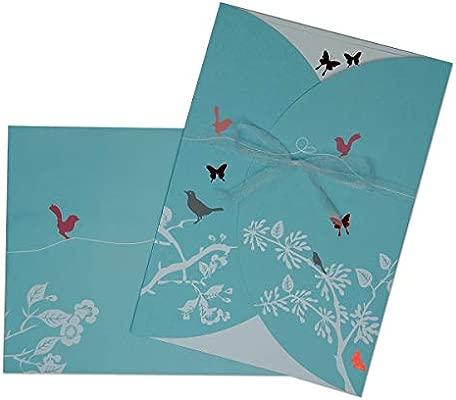 20 Tarjetas De Invitación Set Mariposa Boda Cumpleaños