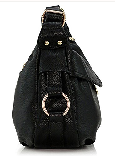 Keshi Leder Niedlich Damen Handtaschen, Hobo-Bags, Schultertaschen, Beutel, Beuteltaschen, Trend-Bags, Velours, Veloursleder, Wildleder, Tasche Deep Grau