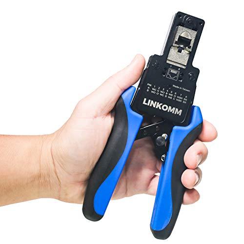 - LINKOMM RJ45 End-Pass-Through Modular Plug Crimping Tool