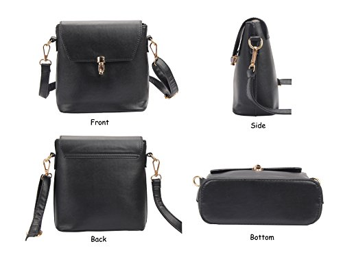 Girls for Bag Crossbody Small PU Women Teen Black Puese Casual Leather Cute Shoulder TP81qSx8gw