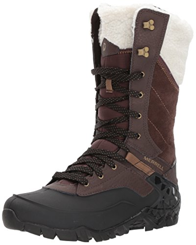 - Merrell Women's Aurora Tall Ice + Waterproof Winter Boot, Espresso, 7.5 M US