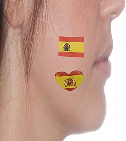 Durabol Tatuajes Temporales 2018 Copa Mundial FIFA Bandera España 5 set (Para Facial): Amazon.es: Deportes y aire libre