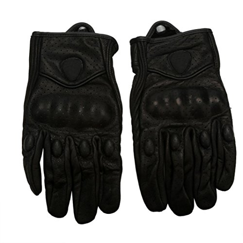 ABC 2016 Motorcycle Riding Racing Bike Protective Armor Short Leather Gloves MESH (M)