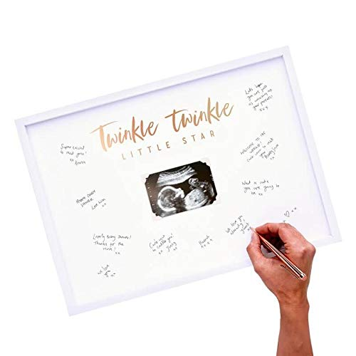 Ginger Ray Baby Shower Scan Guest Book Frame Party Decoration - Twinkle]()