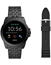 Fossil Men's Gen 5E 44mm Stainless Steel Touchscreen Smartwatch with Speaker, Heart Rate, Contactless Payments and Smartphone Notifications