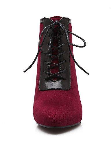 Red us5 5 Vellón 5 Puntiagudos Semicuero Negro Zapatos Cn39 Eu39 De A Uk6 Azul Moda Vestido Casual Black Rojo Botas La Robusto us8 Mujer Xzz Cn35 Eu36 Uk3 Tacón 7gTOwSqq